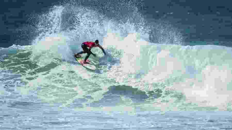 Medina durante etapa de Portugal do Mundial de Surfe - Damien Poullenot/WSL/Divulgação
