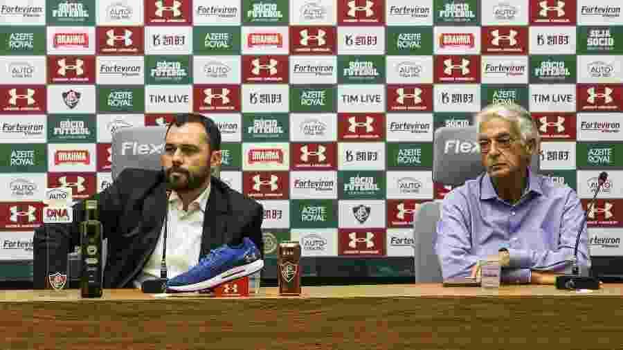Mario Bittencourt e Celso Barros divergem sobre manutenção de Marcão como técnico do Fluminense - Lucas Merçon/Fluminense FC