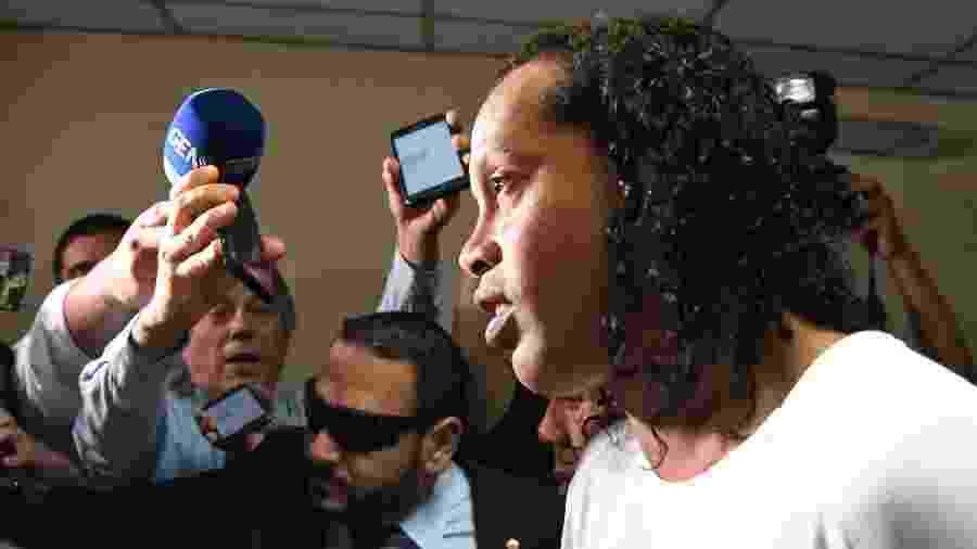 Ronaldinho Gaúcho chega para prestar depoimento no Palácio de Justiça de Assunção - Norberto Duarte/AFP