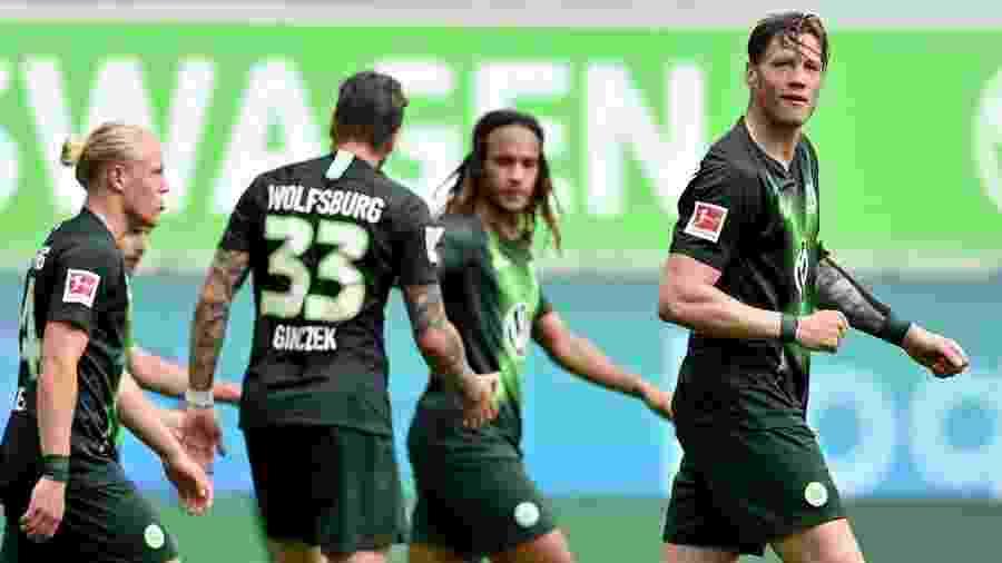 Weghorst em ação pelo Wolfsburg. Jogador está na mira de Arsenal e Newcastle - Divulgação/Site oficial do Wolfsburg