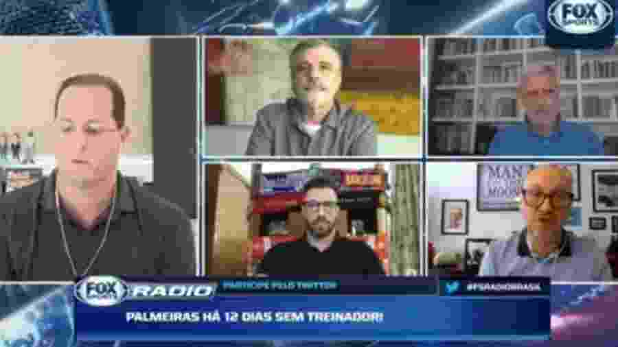 Benja discute com Pascoal e Facincani sobre interesse do Palmeira sem Heinze - Reprodução/Fox Sports