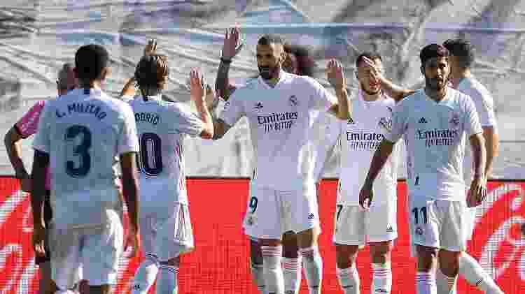Benzema contra o Huesca - Oscar Del Pozo/AFP - Oscar Del Pozo/AFP