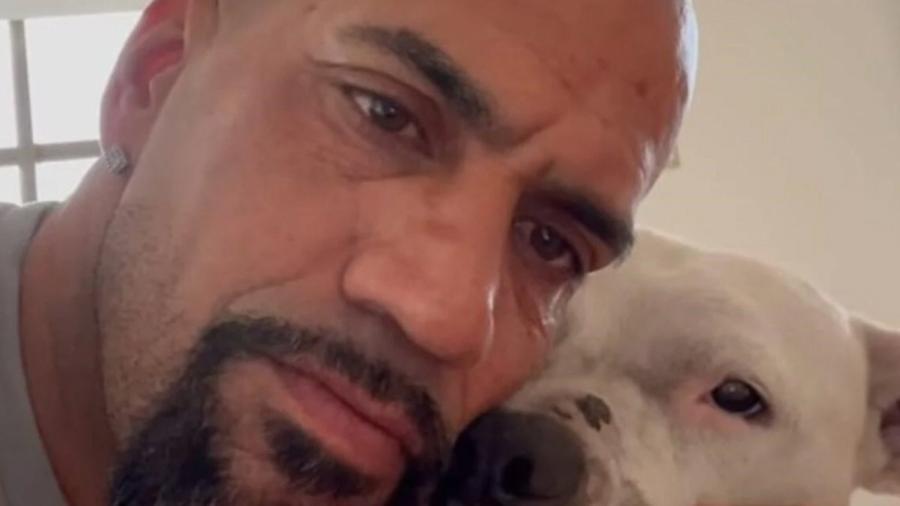 Verón posa com o dogo argentino que salvou do sacrifício - Instagram Verón