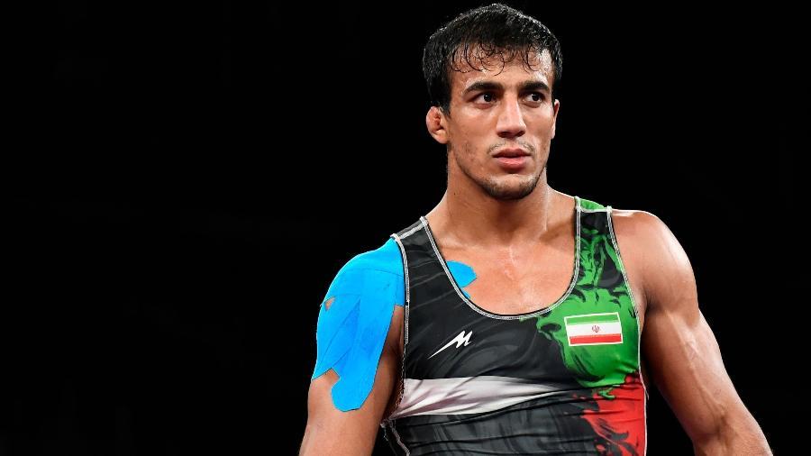 Mohammadali Geraei em ação nos Jogos Olímpicos de Tóquio - Piroschka Van De Wouw/Reuters
