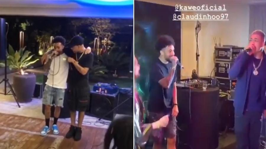 Claudinho canta com amigos, como Kawe. Ascensão do trap no Brasil é realidade nos últimos anos - Reprodução/Stories