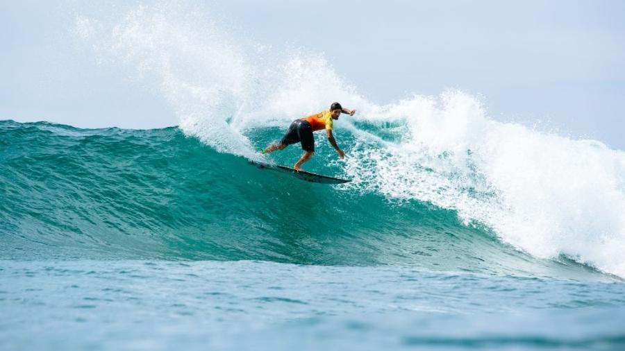 Gabriel Medina durante etapa do México do Mundial de Surfe - Tony Heff/World Surf League via Getty Images