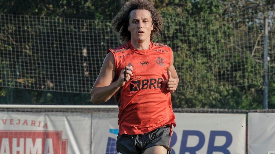 David Luiz realiza primeiro treino no Ninho do Urubu como jogador do Flamengo - Foto: Marcelo Cortes / Flamengo