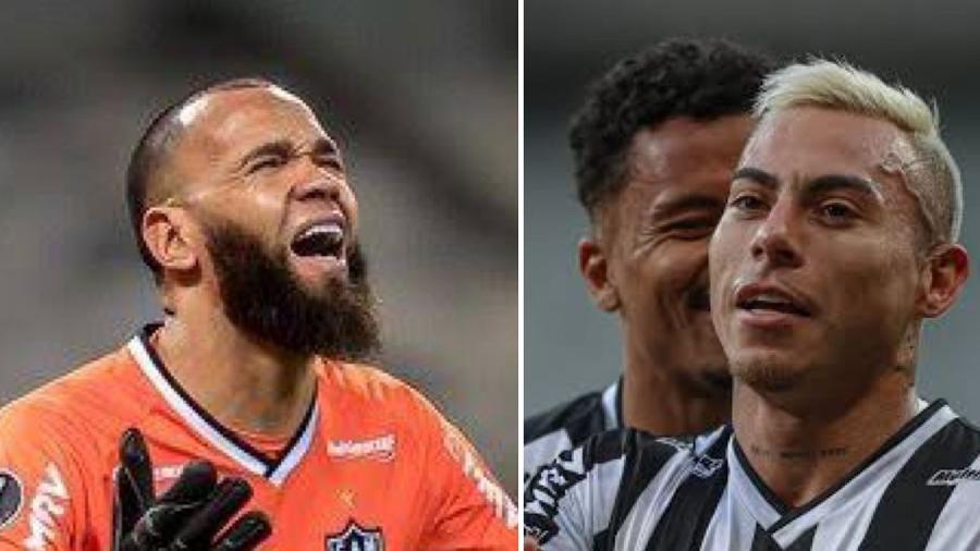 Everson e Vargas comparam batidas contra Boca e Sport e brincam nas redes sociais  - Pedro Souza
