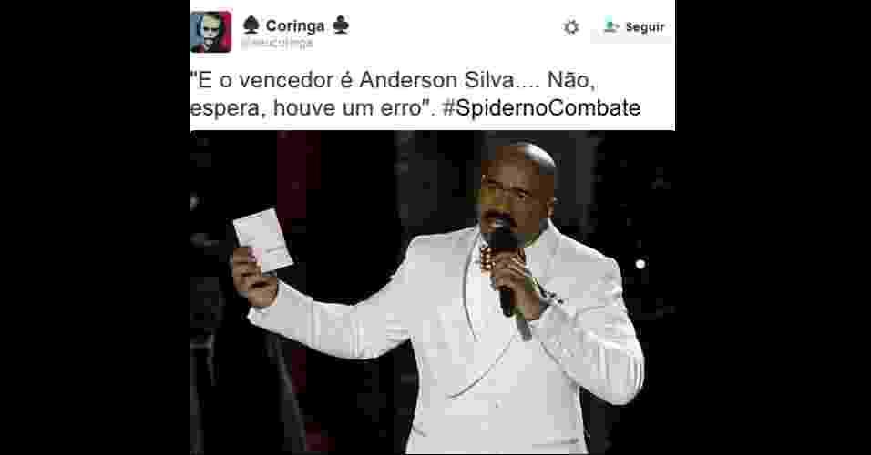 Derrota de Anderson Silva para Michael Bisping vira meme - Reprodução