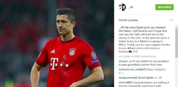 Lewandowski desabafou após nova eliminação no Bayern de Munique