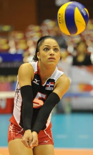 Brenda Castillo, atleta da seleção de vôlei da República Dominicana