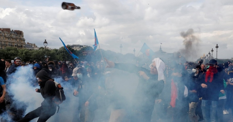 Protestos políticos contra reforma trabalhista marcam Eurocopa na França