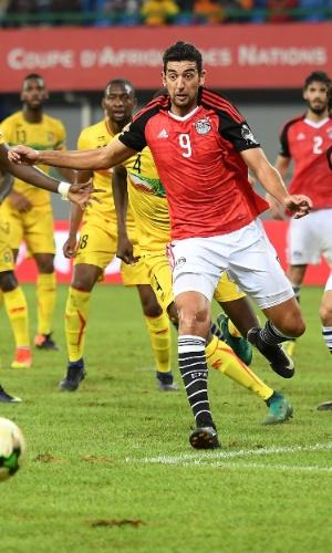 Ahmed Hassan, da seleção do Egito, na Copa Africana de Nações 2017