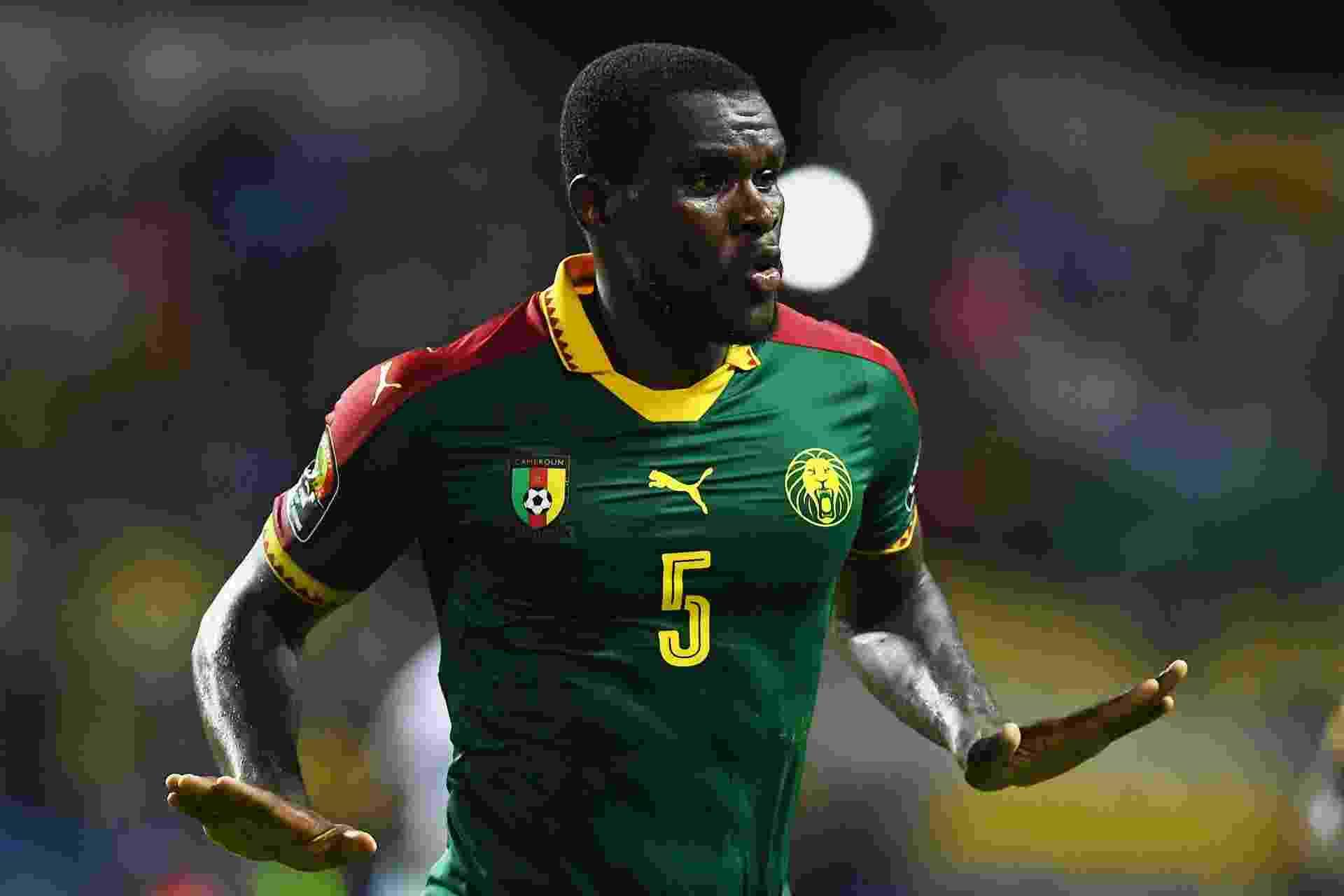 Michael Ngadeu-Ngadjui, da seleção de Camarões, na Copa Africana de Nações 2017 - Gabriel Bouys/AFP Photo