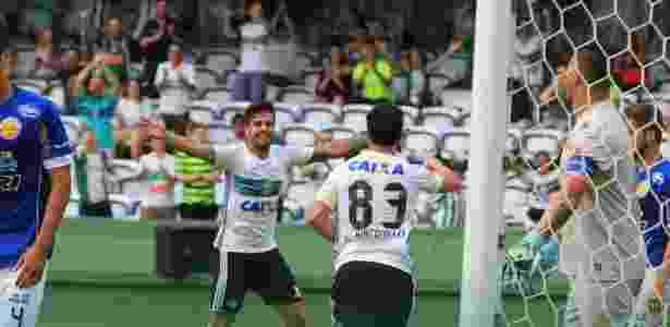 Kléber e Henrique Almeida comandam o Coxa diante do Cianorte - Coritiba/ Divulgação