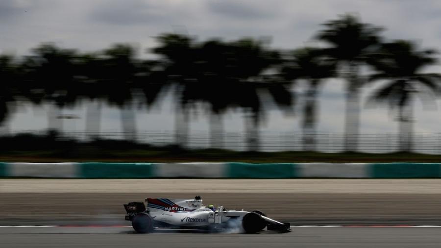 Felipe Massa, da Williams, durante treinos livres na Malásia - Clive Mason/Getty Images