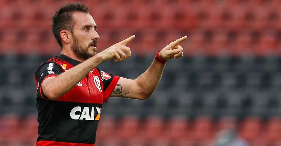 Mancuello abriu o placar para o Flamengo contra o Corinthians