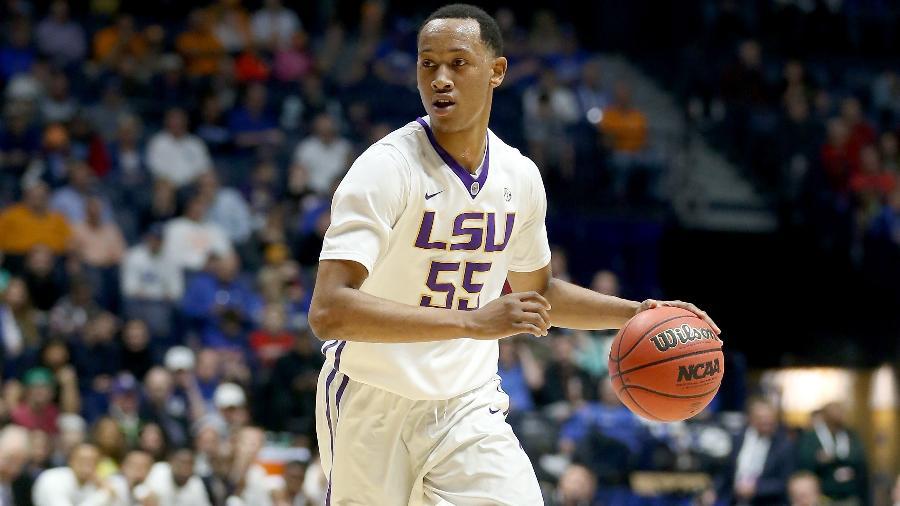 Tim Quarterman em ação pelo time de basquete da universidade de LSU - Andy Lyons/Getty Images