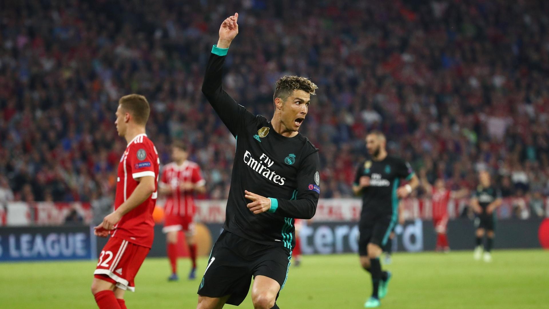 Cristiano Ronaldo lamenta gol anulado em Bayern de Munique x Real Madrid, pela Liga dos Campeões