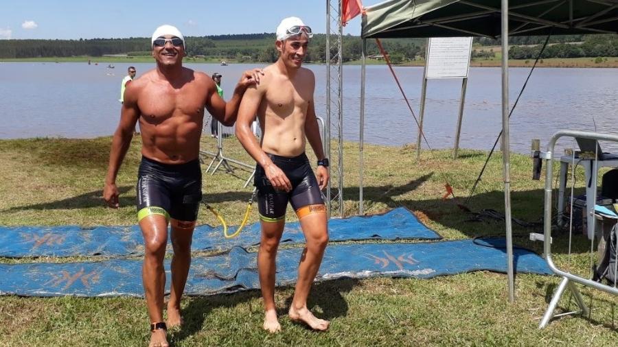 Anderson e Guilherme participaram de provas. Entrosamento será testado no Ironman - Arquivo Pessoal
