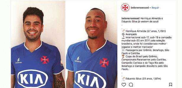 Henrique Almeida e Eduardo Henrique foram anunciados pelo clube português - Reprodução