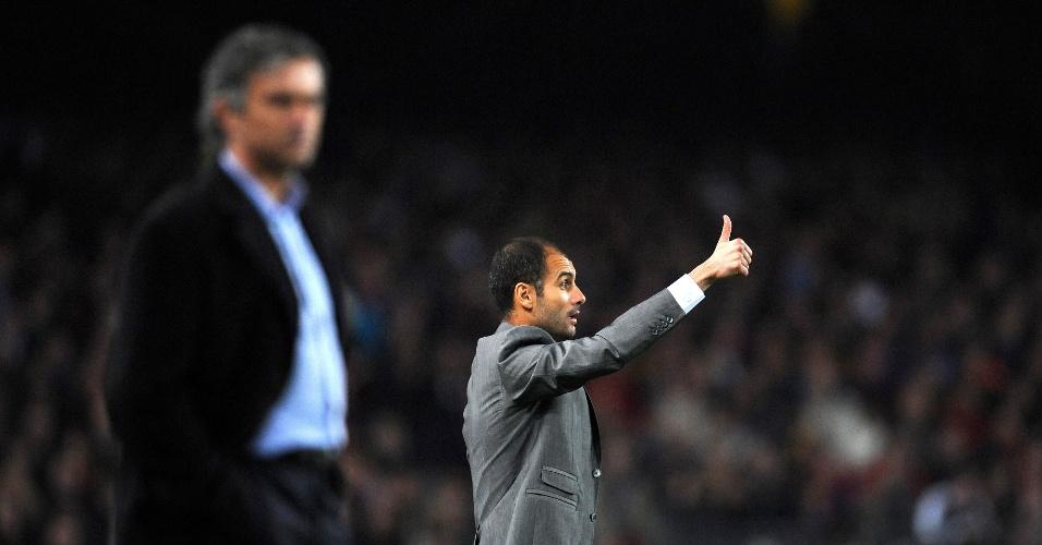 Mourinho e Guardiola nos tempos de Inter e Barcelona