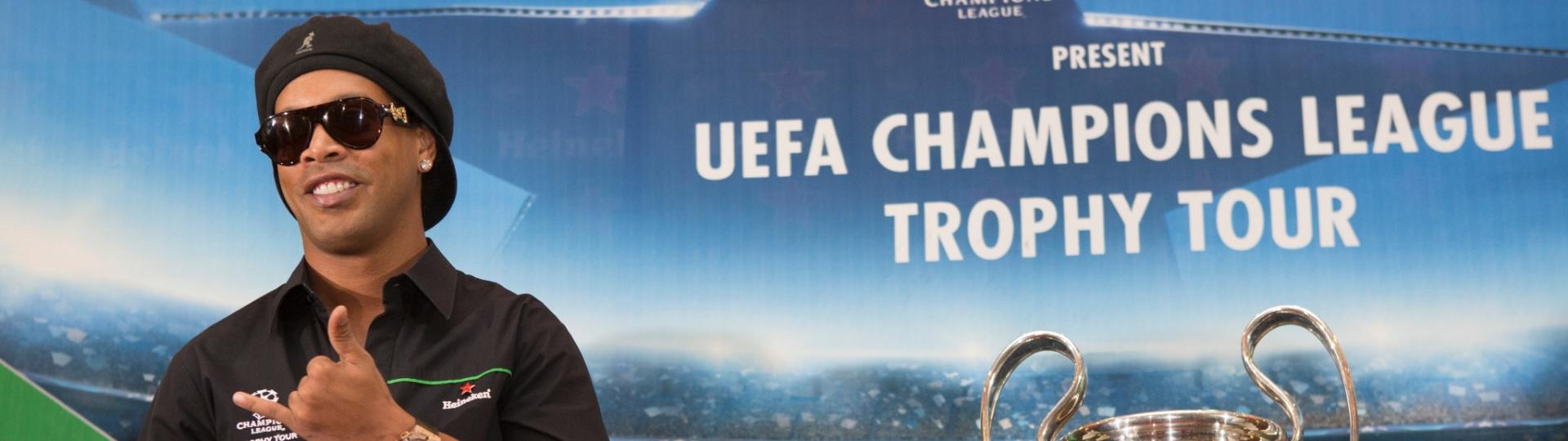 Ronaldinho Gaúcho em evento da Champions