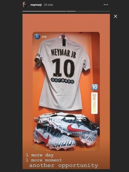 735cf8a53 Neymar reflete antes de jogo pelo PSG