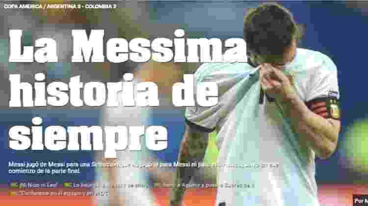 Diário Olé poupou Messi, mas fez duras críticas à seleção argentina após resultado na Fonte Nova - Reprodução