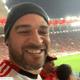 No Maracanã, Adriano Imperador comemora vitória do Flamengo na Libertadores