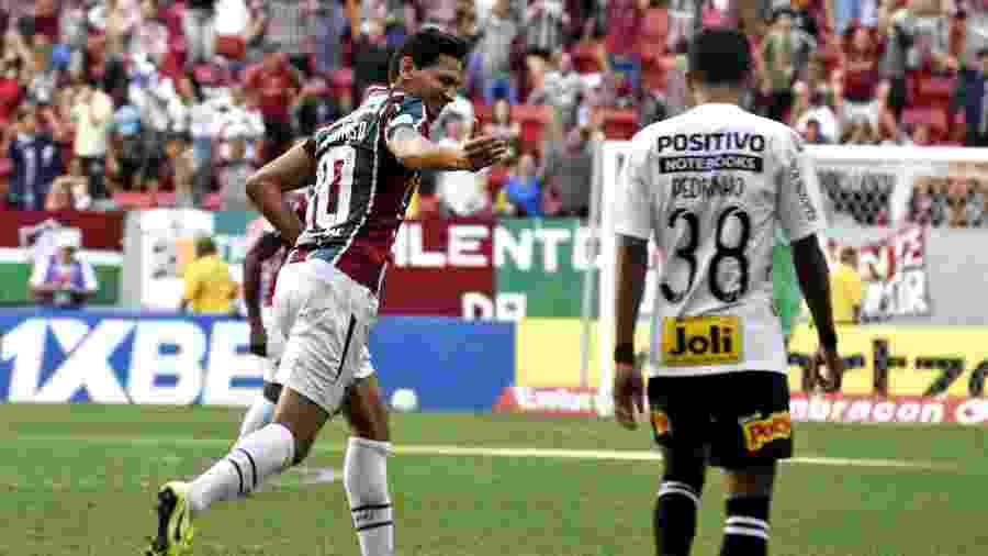 Ganso comemora gol do Fluminense contra o Corinthians - MAILSON SANTANA/FLUMINENSE FC