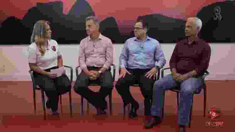 Dirigentes do Flamengo fizeram um pronunciamento na Fla TV para explicações sobre o incêndio no Ninho  - Reprodução - Reprodução