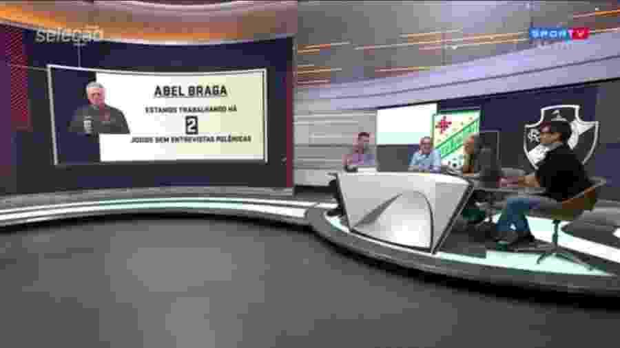 Seleção SporTV brinca com entrevistas coletivas de Abel Braga - Reprodução/SporTV