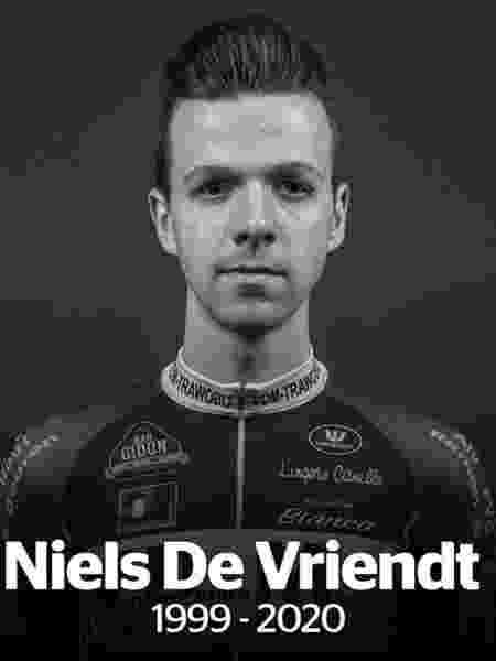 Niels De Vriendt, ciclista de 20 anos, morreu após passar mal durante prova - Divulgação/VDM-Trawobo