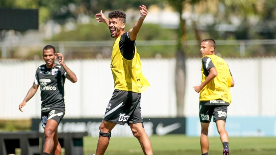 Léo Santos durante treino do Corinthians no CT Joaquim Grava  - Rodrigo Coca/ Ag. Corinthians