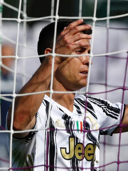 25/04/2021 - Cristiano Ronaldo, da Juventus, contra a Fiorentina - Matteo Ciambelli/DeFodi Images via Getty Images