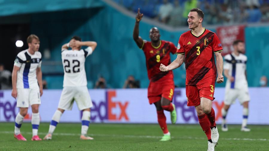 Vermaelen comemora gol da Bélgica contra a Finlândia, pela terceira rodada da Eurocopa - UEFA via Getty Images