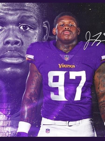 Jaylen Twyman, do Minnesota Vikings, é baleado quatro vezes - Reprodução/Instagram