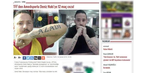 Entrevista repercutiu negativamente para Deniz Naki