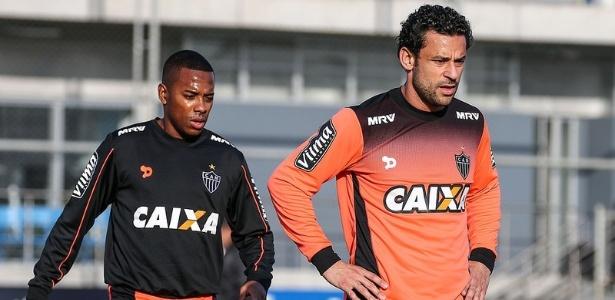 Ataque formado por Robinho e Fred é uma prova do estilo agressivo do Atlético-MG no mercado - Bruno Cantini/Clube Atlético Mineiro