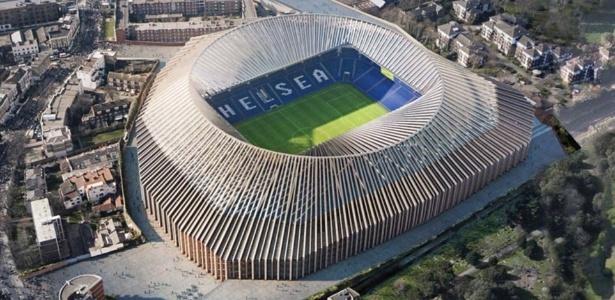 Projeto para reforma do Stamford Bridge, estádio do Chelsea