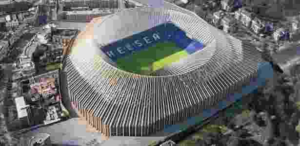 Versão renovada do Stamford Bridge, estádio do Chelsea - Reprodução