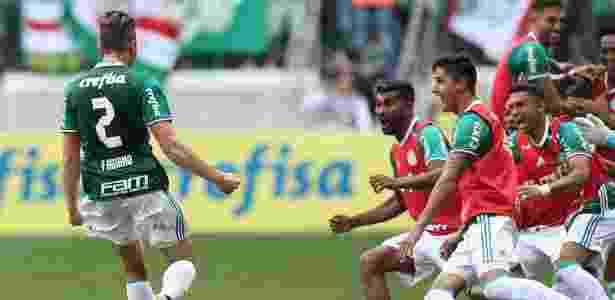 Fabiano Palmeiras comemoração gol título - Cesar Greco/Ag. Palmeiras - Cesar Greco/Ag. Palmeiras
