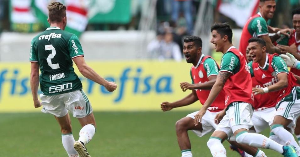 Fabiano Palmeiras comemoração gol título