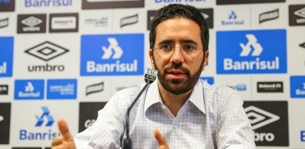 André Zanotta, 36 anos, passou por Santos e Sport antes de assinar com o Grêmio - Lucas Uebel/Grêmio