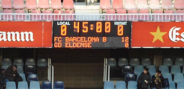 Barça B goleia Eldense por 12 a 0