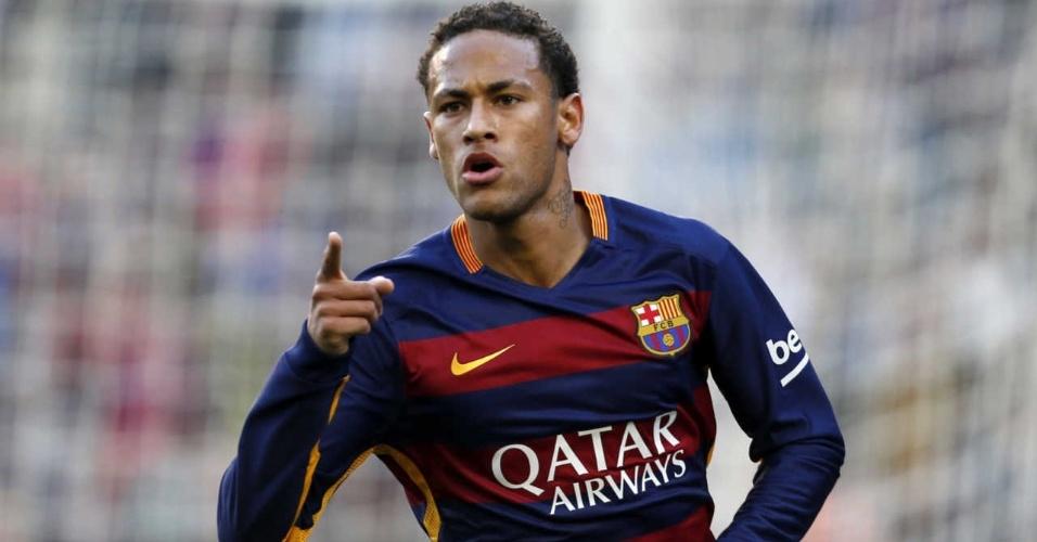 Neymar comemora gol do Barcelona contra o Real Sociedad pelo Campeonato Espanhol, em novembro de 2015