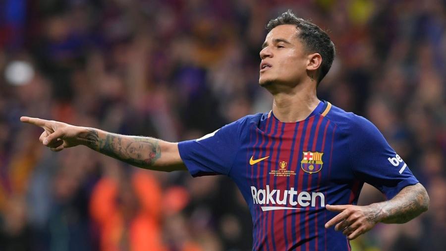Coutinho conquistou primeiro título pelo Barça - AFP PHOTO / LLUIS GENE