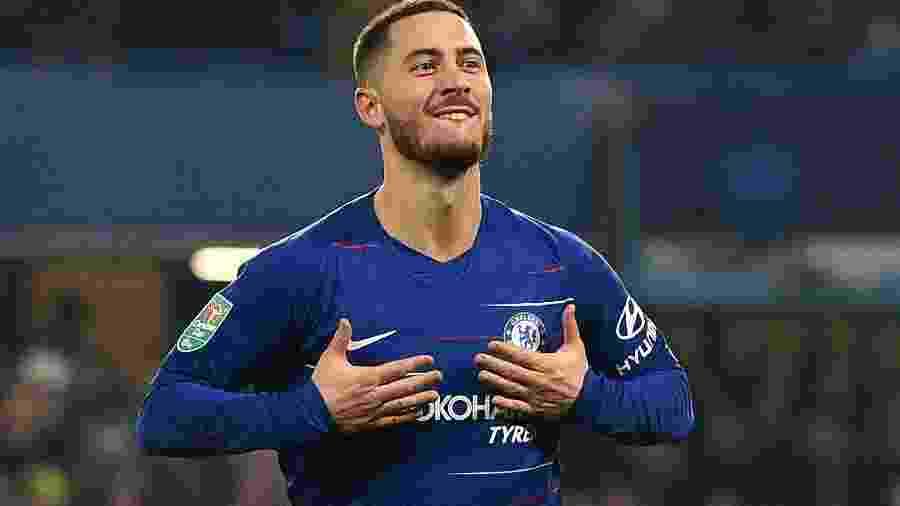 Hazard somou 340 pontos e liderou, com folga, ranking dos melhores atletas da Liga Europa - Glyn KIRK / AFP