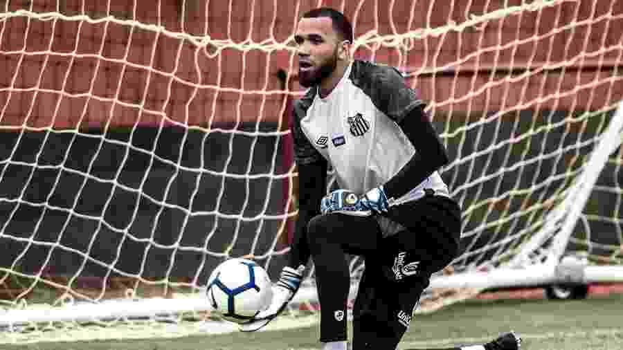 Everson em treino do Santos - Ivan Storti/Santos FC